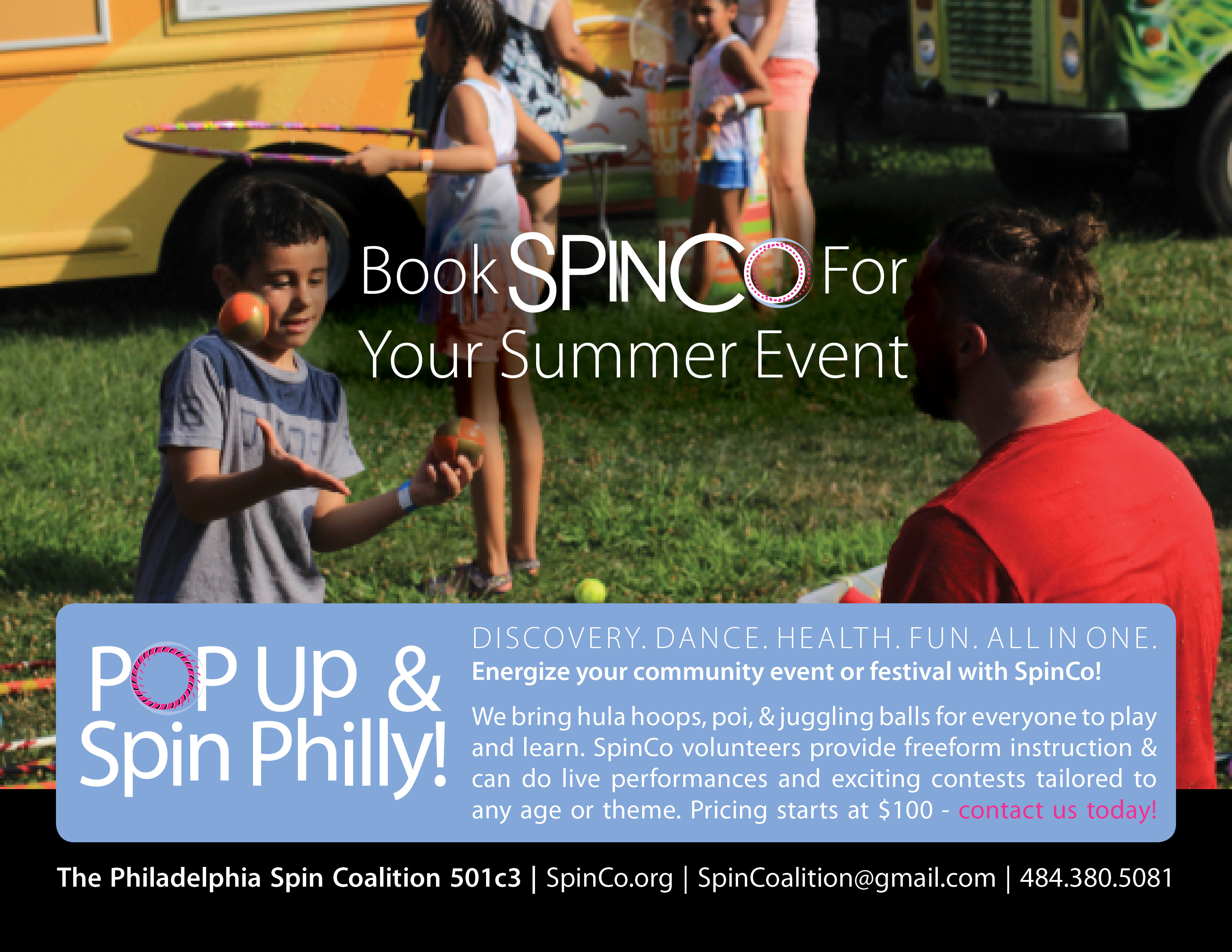 Book SpinCo for your summer event