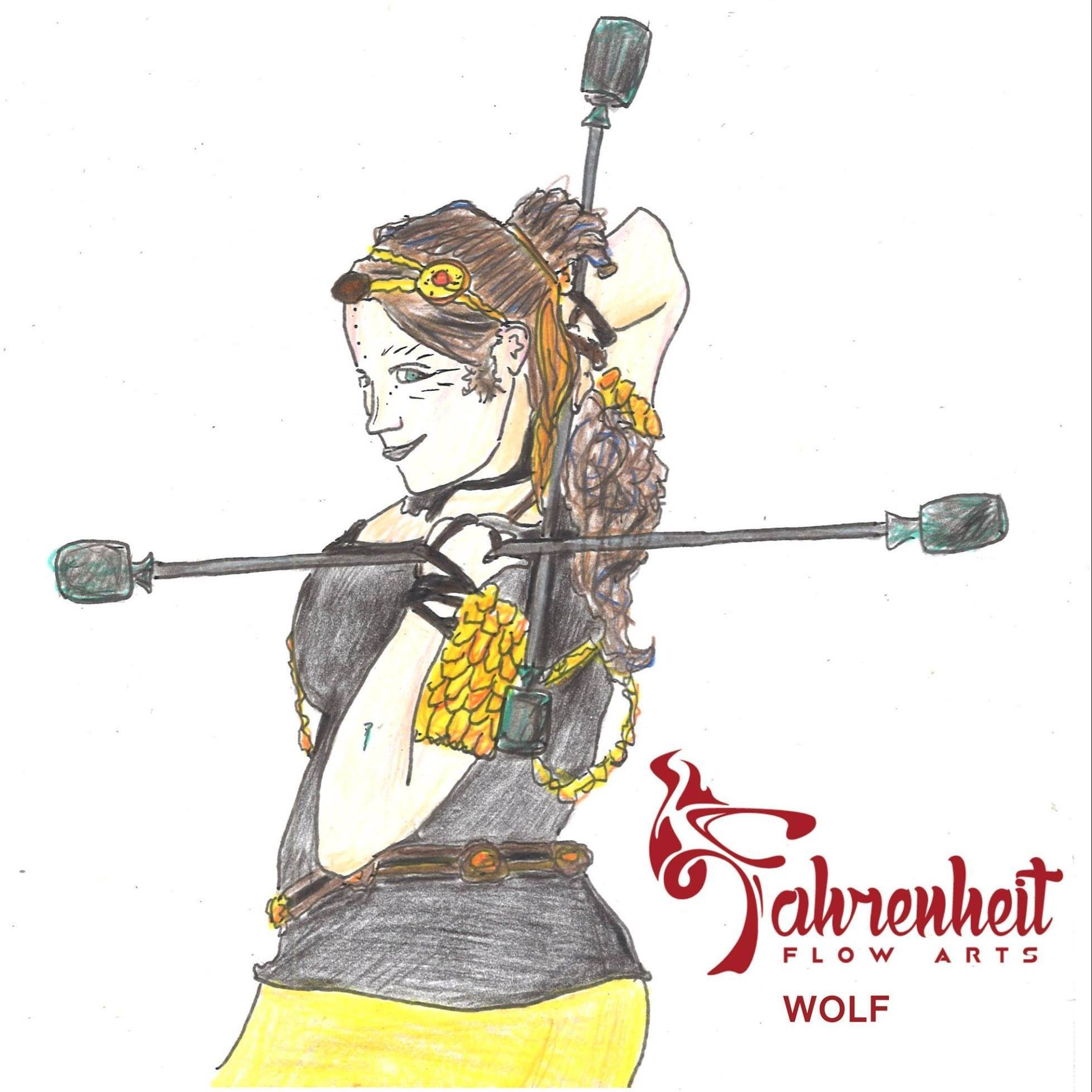 Wolf Bukiet Drawing Fahrenheit