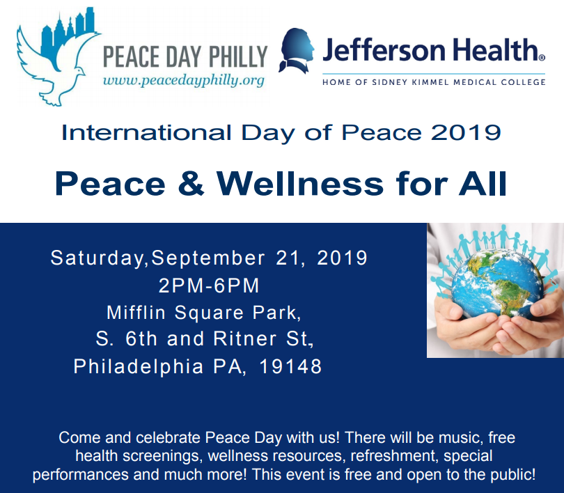 Peace Day Philly Flyer